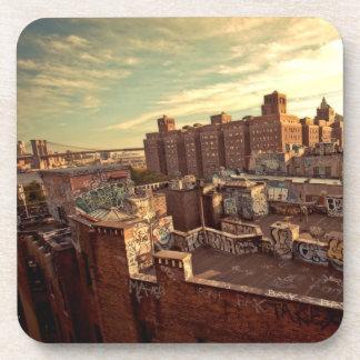 Chinatown Rooftop Graffiti Coasters