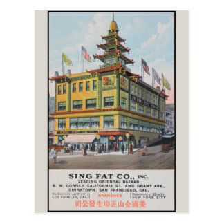 Chinatown San Francisco Sing Fat Co. Postcards