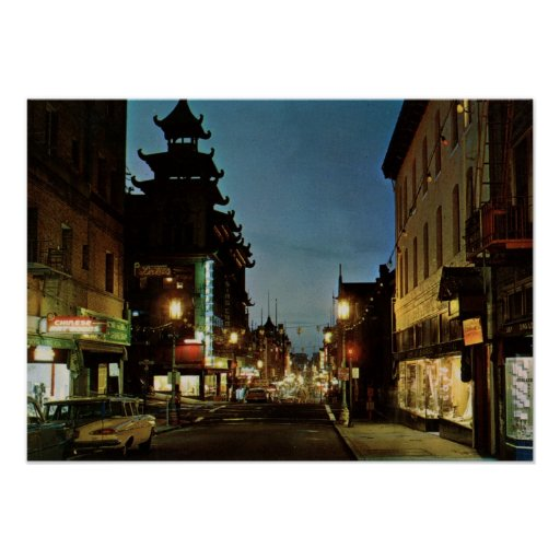 Chinatown, San Francisco Vintage Poster