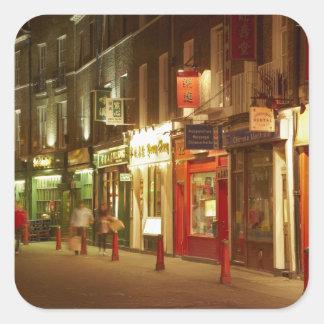 Chinatown Soho Londres Inglaterra Reino Unido Calcomanía Cuadradas Personalizadas
