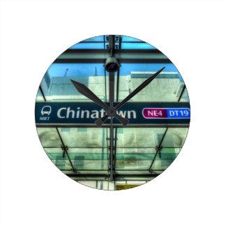 Chinatown Station Singapore Round Clock