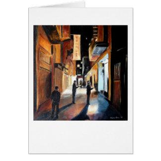 """Chinatown Treasure Hunt"" by Trina Chow Greeting Card"