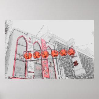 Chinatown - Yokohama, Japan Poster