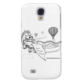 ChinChatComics Dragon and Pixel Chinchilla Samsung Galaxy S4 Covers