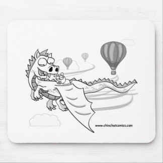 ChinChatComics Dragon and Pixel Chinchilla Mouse Pad