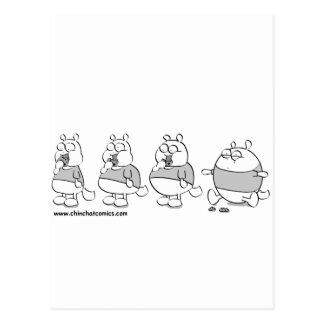 ChinChatComics Toby Chinchilla Postcard