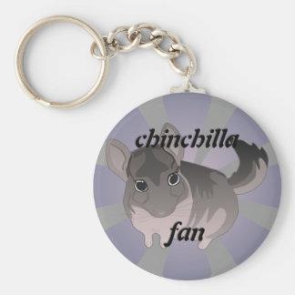 Chinchilla Basic Round Button Keychain