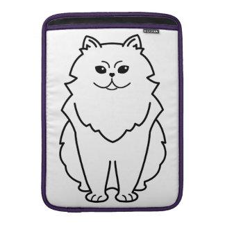 Chinchilla Cat Cartoon MacBook Sleeve
