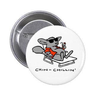 Chinchilla Chillin Button