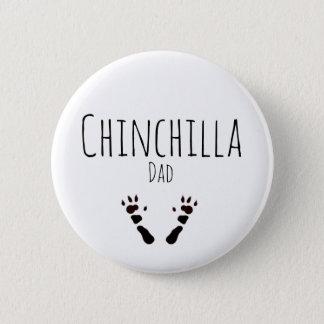 Chinchilla Dad - Paw-print Design Button