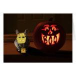 Chinchilla de Halloween Felicitacion