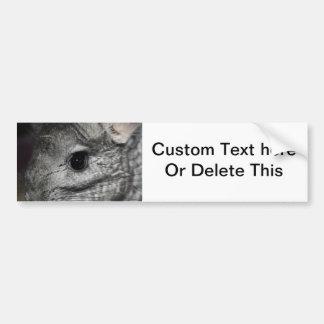 chinchilla eye close up bumper sticker