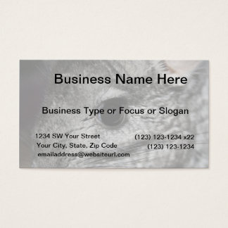 chinchilla eye close up business card