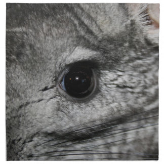 chinchilla eye close up cloth napkin