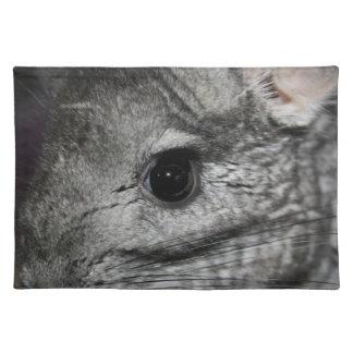chinchilla eye close up placemat