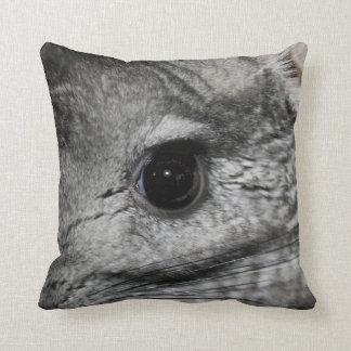 chinchilla eye close up throw pillow