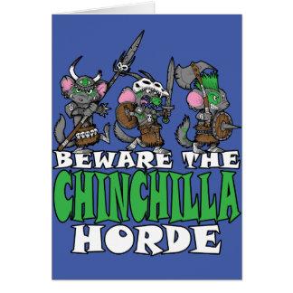Chinchilla Horde Card