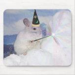 Chinchilla imperial Mousepad del mago del nivel 33 Tapetes De Ratón