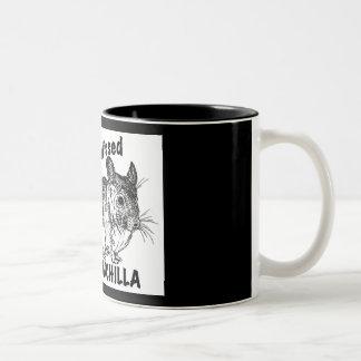 Chinchilla Kisses Two-Tone Coffee Mug