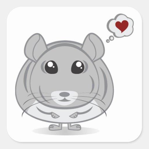 Chinchilla Love Thought Bubble Sticker