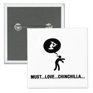 Chinchilla Lover Button