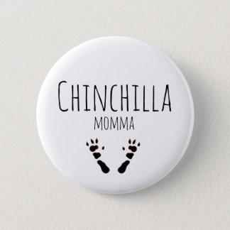 Chinchilla Momma - Paw-print Design Pinback Button