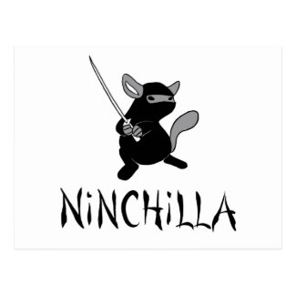 Chinchilla Ninja Postcard