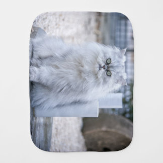 chinchilla persian burp cloth