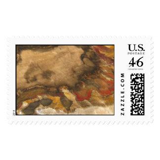 Chinchilla Petrified Wood Postage Stamp