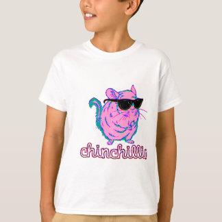 Chinchilla rosada de neón de Chinchillin Playera