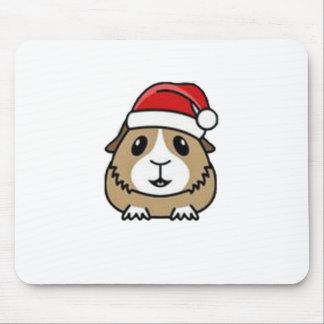 Chinchilla Santa Hat Mouse Pad