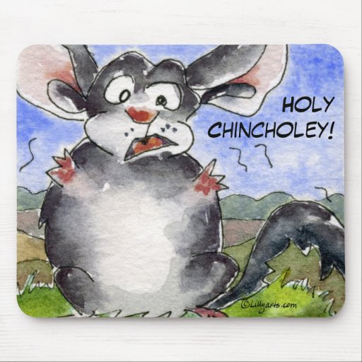 Chinchilla santa Mousepad de Chincholey Tapetes De Raton