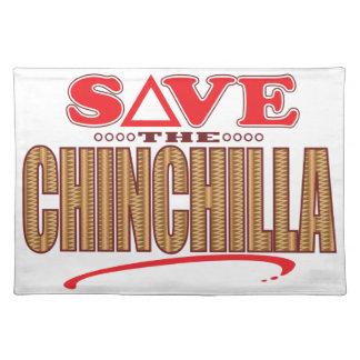 Chinchilla Save Cloth Placemat