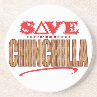 Chinchilla Save Coaster
