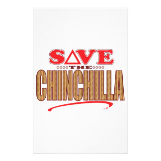 Chinchilla Save Stationery