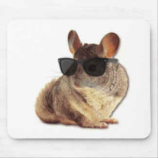 Chinchilla Sunglasses Mouse Pad