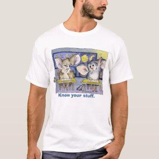 Chinchillas in School Cartoon T-shirt