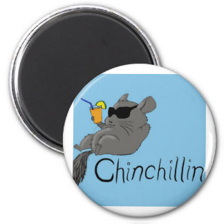 chinchillin 2 inch round magnet