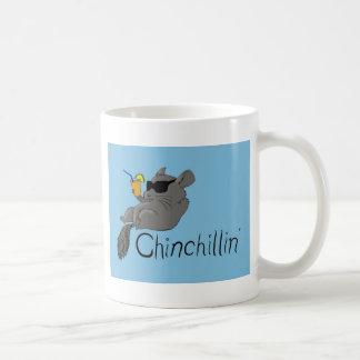 chinchillin classic white coffee mug