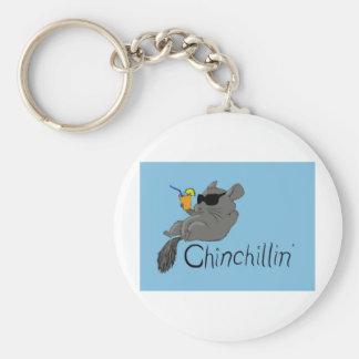 chinchillin keychain