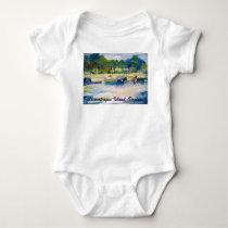 Chincoteague Island Horse Painting Baby Bodysuit