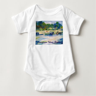 Chincoteague Island Horse Painting Baby Bodysuit
