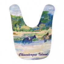 Chincoteague Island Horse Painting bib
