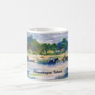 Chincoteague Island Horse Painting Coffee Mug