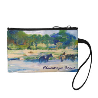 Chincoteague Island Horse Painting Coin Wallet