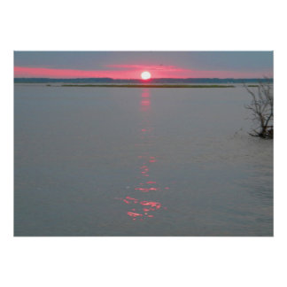 Chincoteague Island sunset on the water 5 Poster