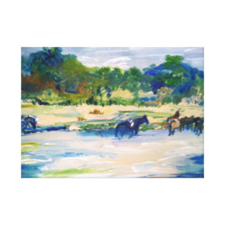 Chincoteague Ponies Painting #1 Canvas Print