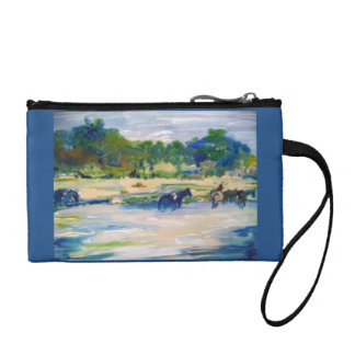 Chincoteague Ponies Painting#1 Coin Wallet