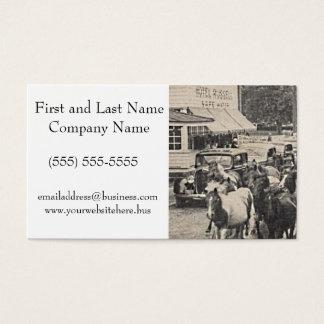 Chincoteague Ponies Vintage Postcard Art Business Card