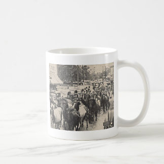 Chincoteague Ponies Vintage Postcard Art Coffee Mug